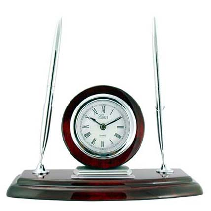 Pen_Clock_Desk_Set